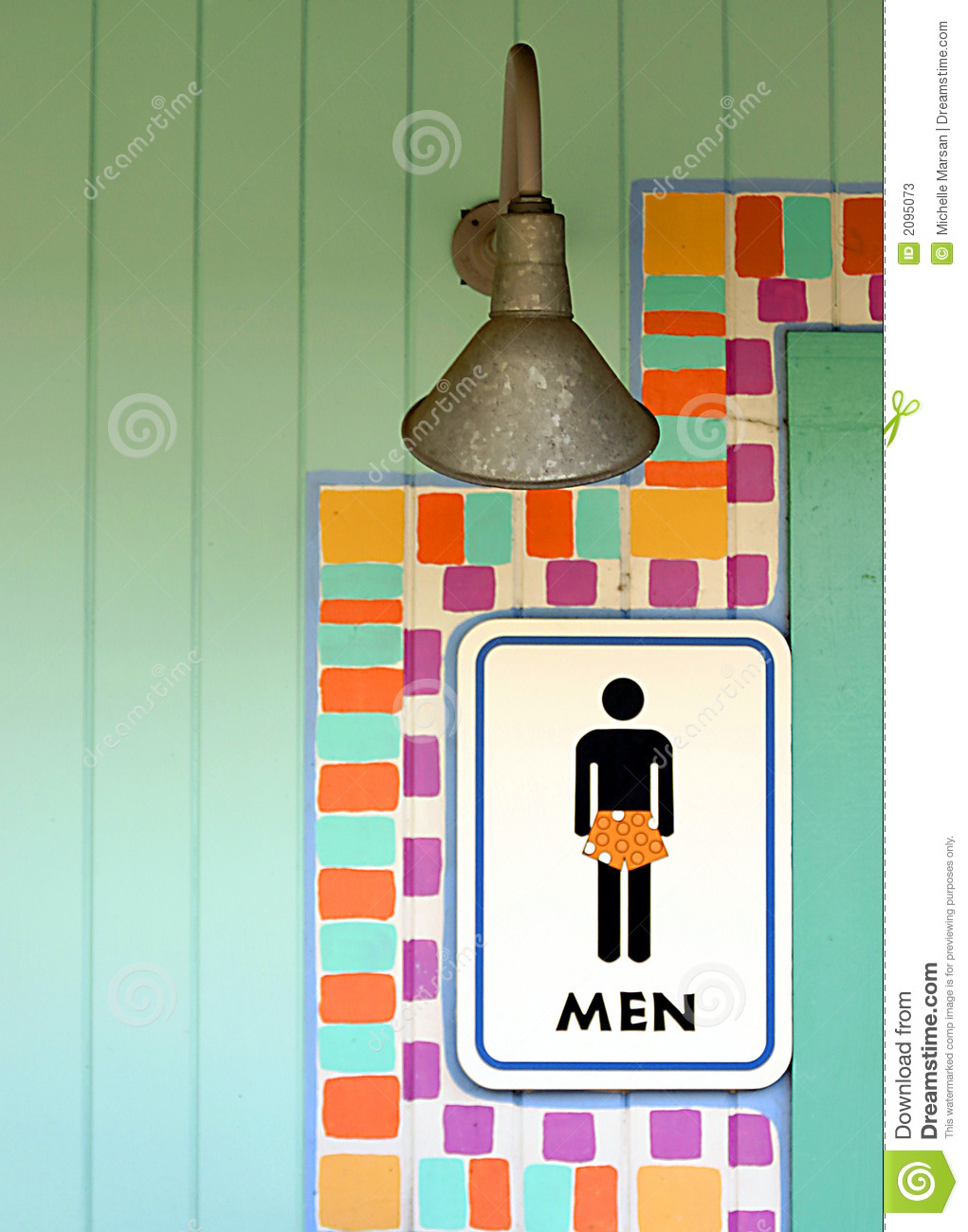 Tropical Mens Room Sign Stock Photos - Image: 2095073