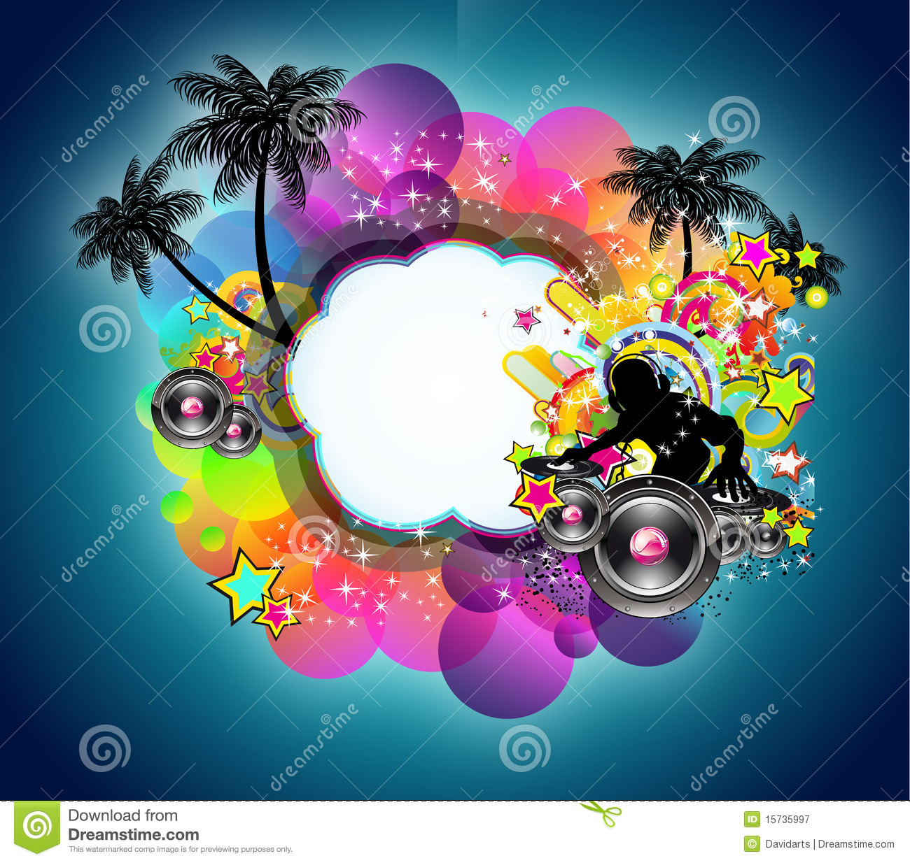 Tropical Music And Latin Disco Background Stock Vector ...