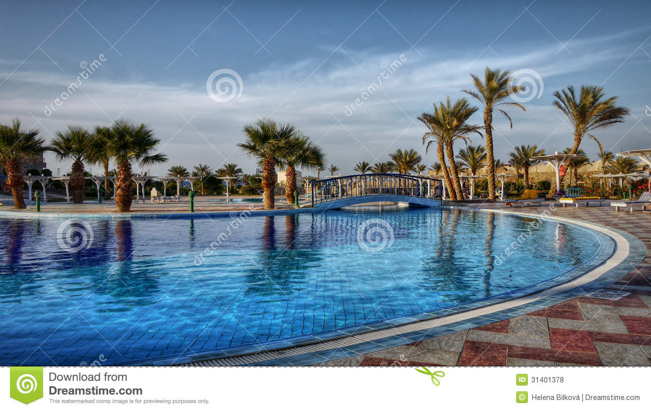 Tropical Oasis Luxury Hotel Resort Egypt Royalty Free Stock Photos Image 31401378