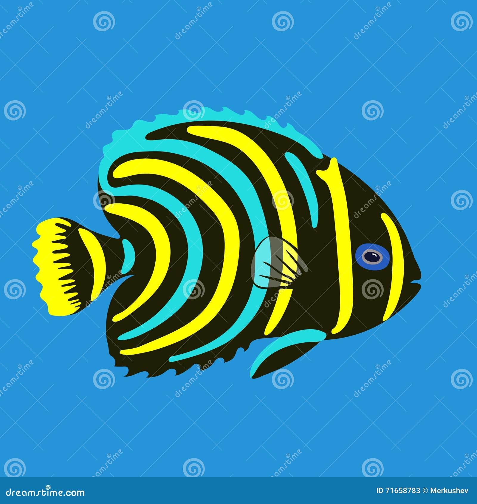 tropical ocean fish vector illustration stock vector image