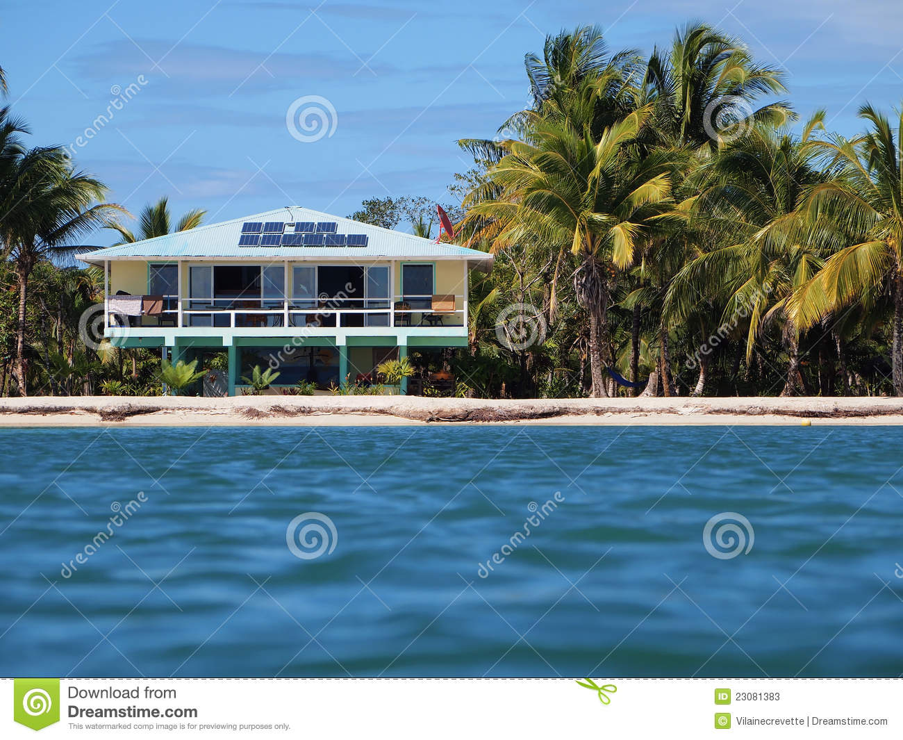 Tropical Off Grid House Stock Photos Image 23081383
