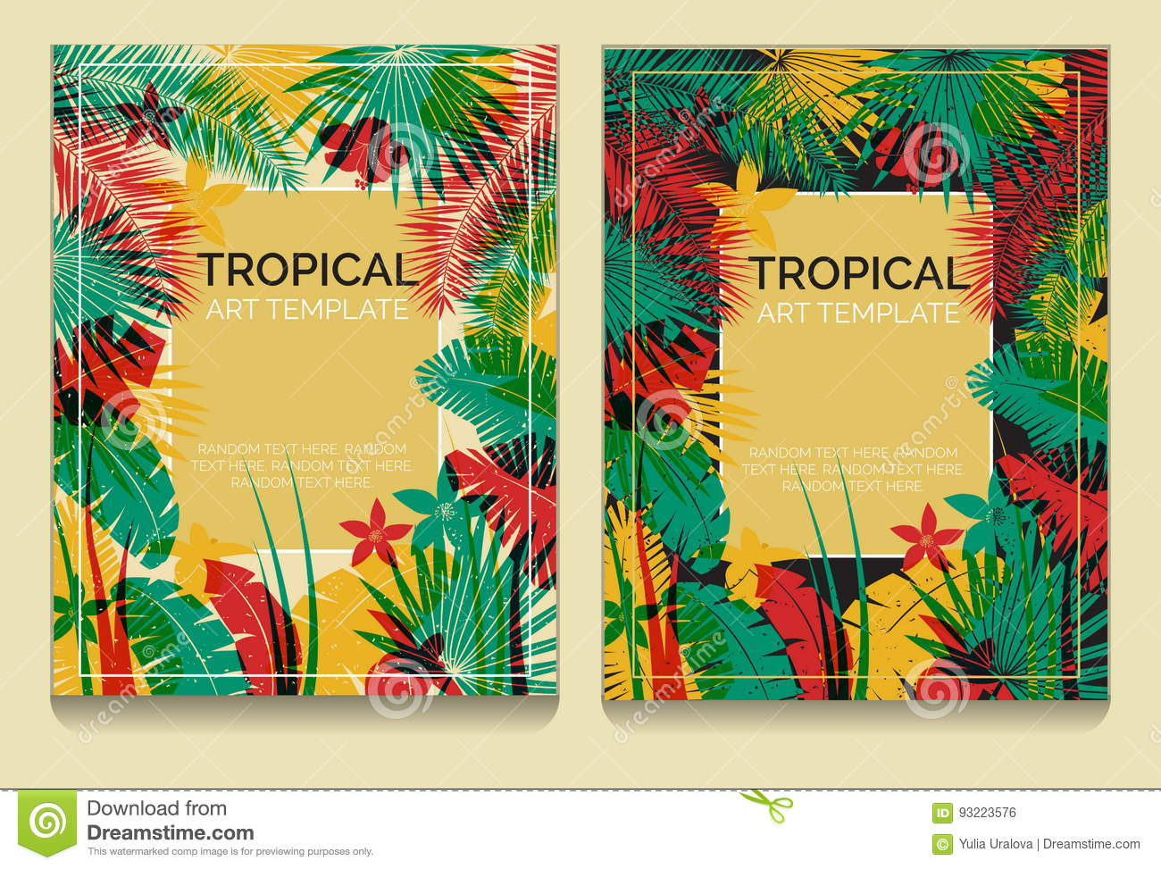 Tropical offset print effect jungle templates stock vector tropical offset print effect jungle templates royalty free vector toneelgroepblik Image collections
