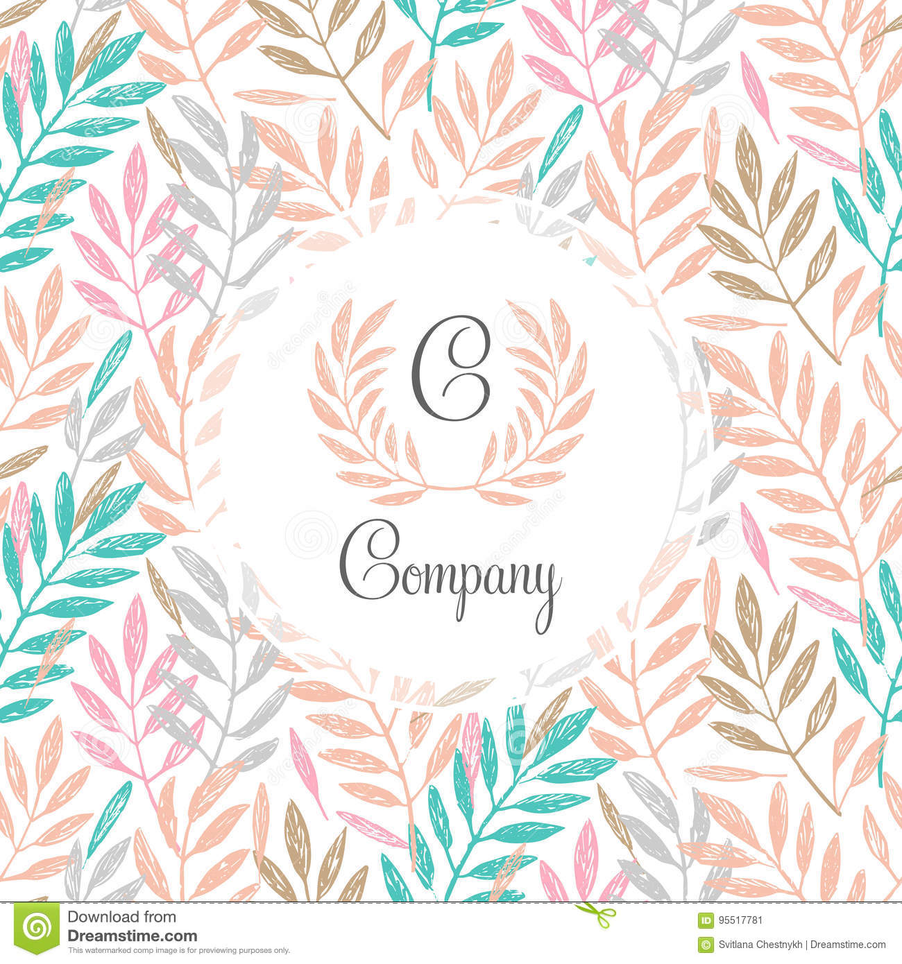 tropical palm leaves foliage wreath round frame stock vector