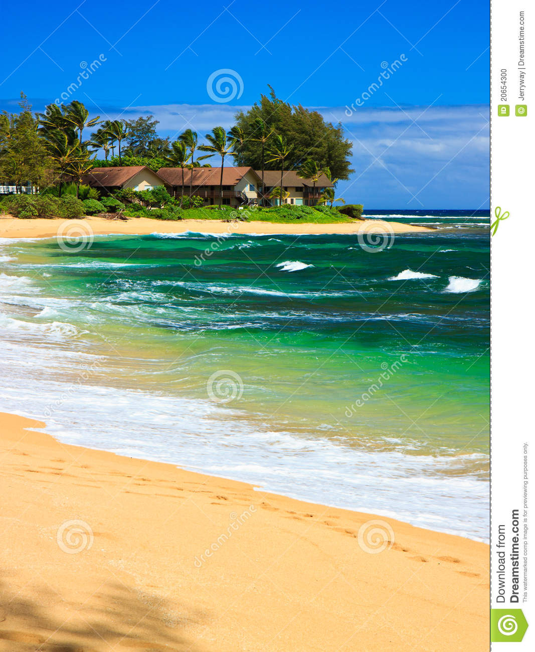 Kauai Beaches: Tropical Paradise, Wainiha Beach, Kauai, Hawaii Stock