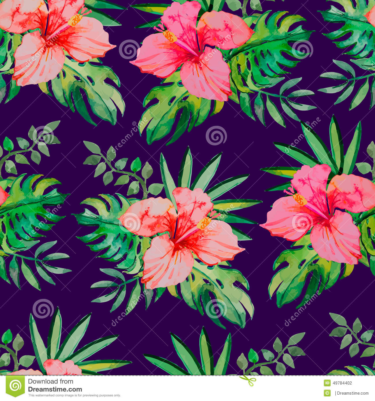 Tropical flowers and leaves for your design.
