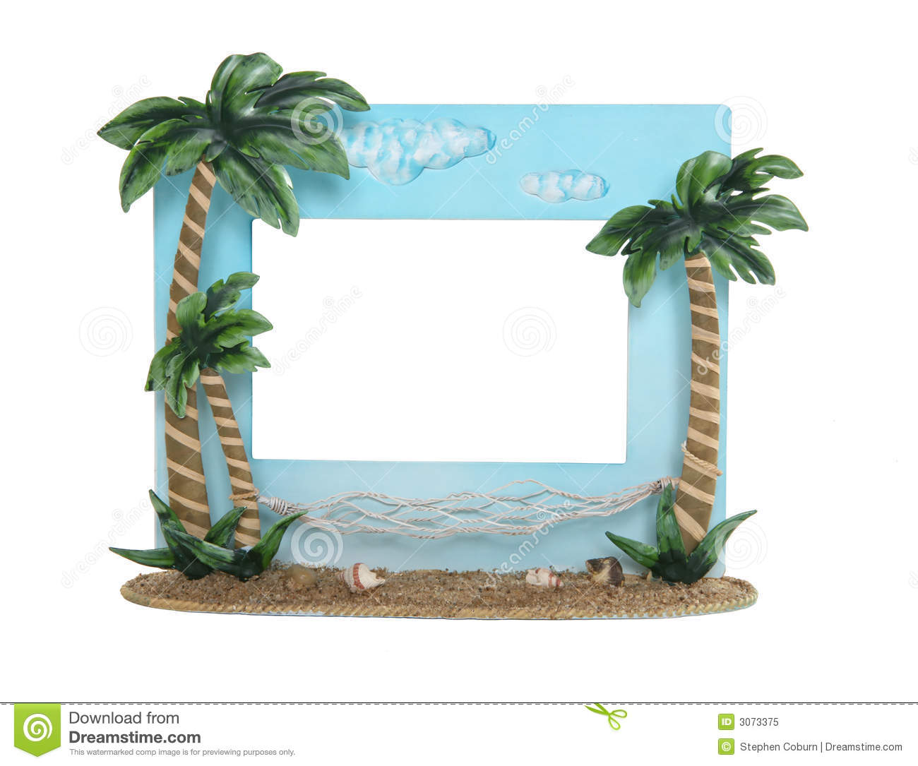 Tropical Picture Frame Royalty Free Stock Photo Image