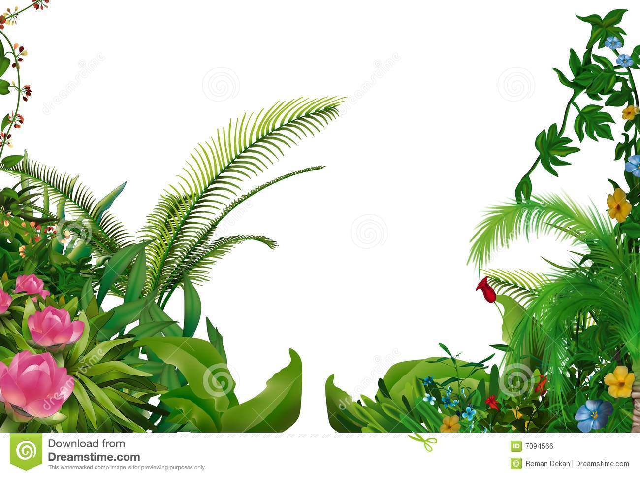 tropical plants royalty free stock image image 7094566 clip art palm tree black and white clipart palm tree png