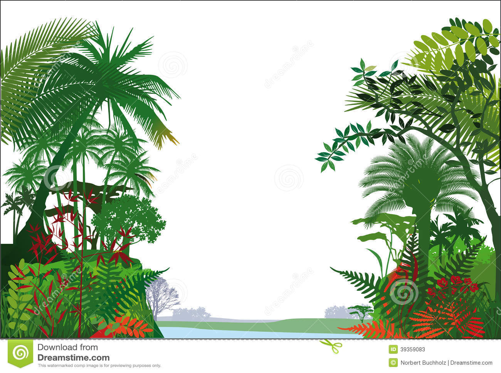 tropical rainforest stock vector image 39359083