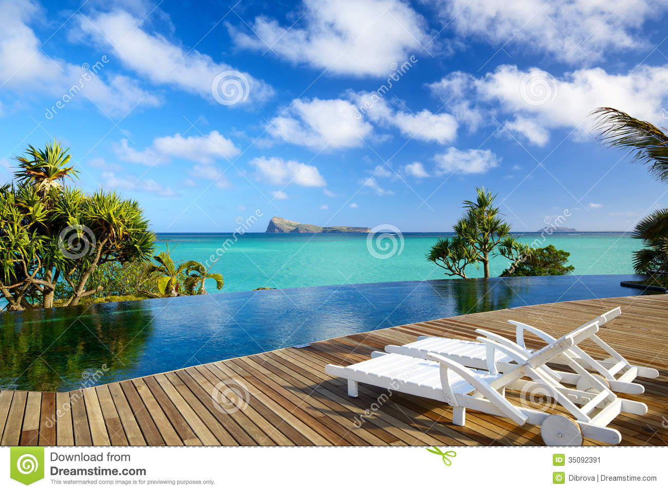 Tropical relax in mauritius stock image image 35092391 for Swimming pool mauritius