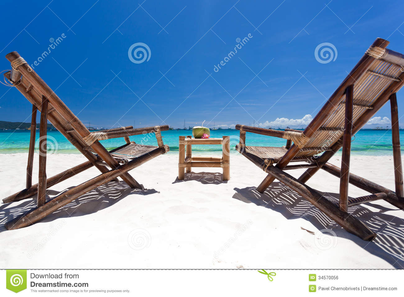 Tropical relax on white beach royalty free stock image for Chaise longue relax