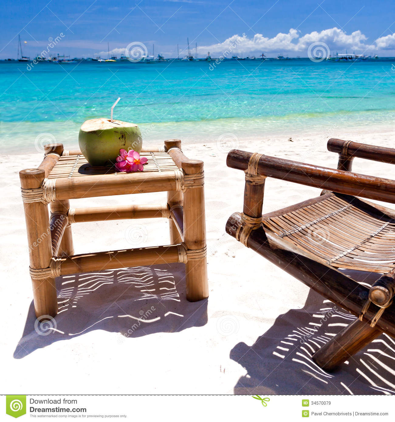 Tropical relax on white beach royalty free stock images for Beach chaise longue