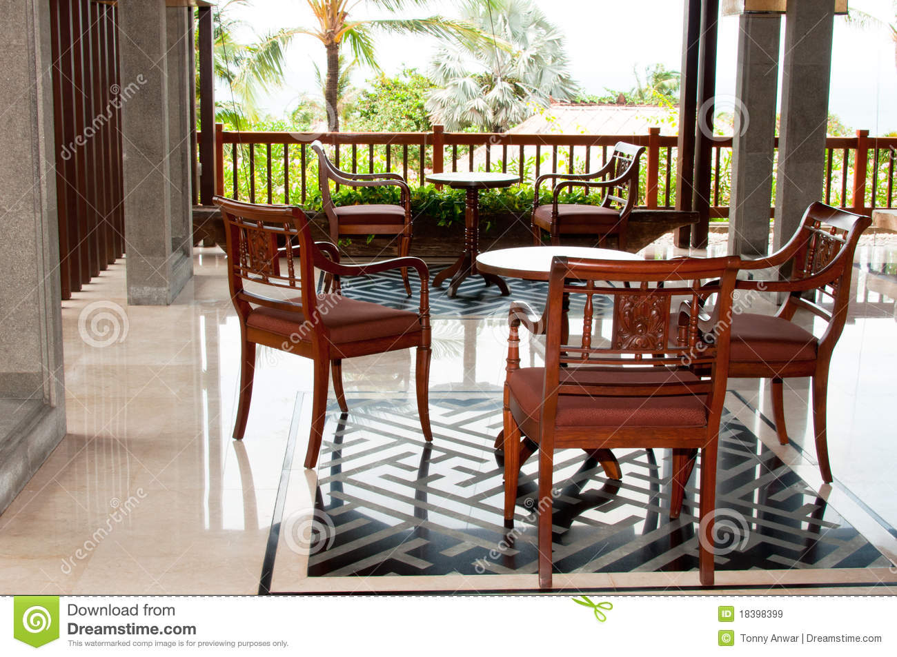 Tropical Resort Furniture Royalty Free Stock Images Image 18398399
