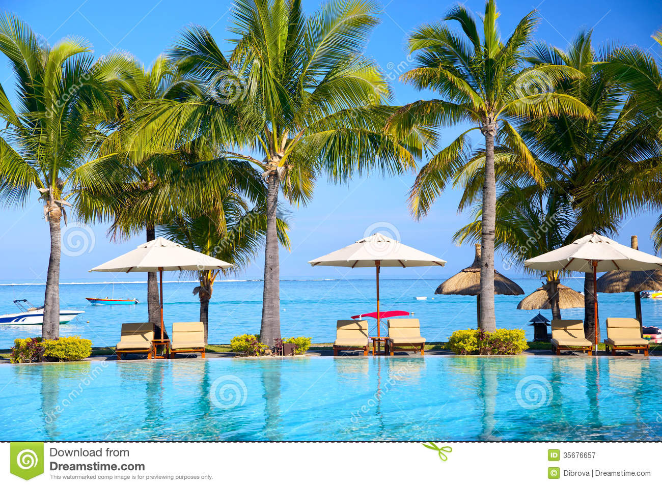 Tropical resort stock image Image of relax relaxation
