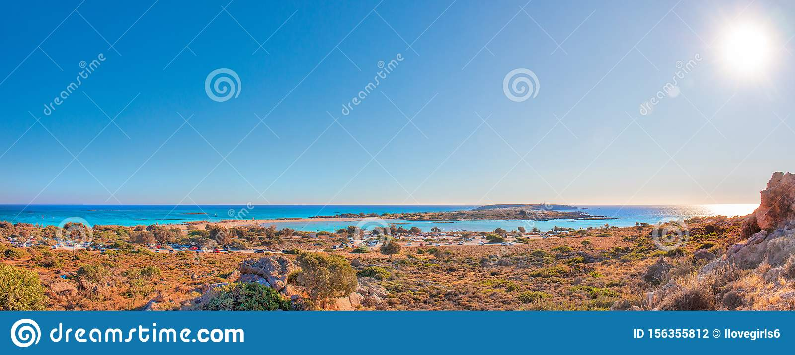 Tropical Sandy Beach With Turquoise Water In Elafonisi