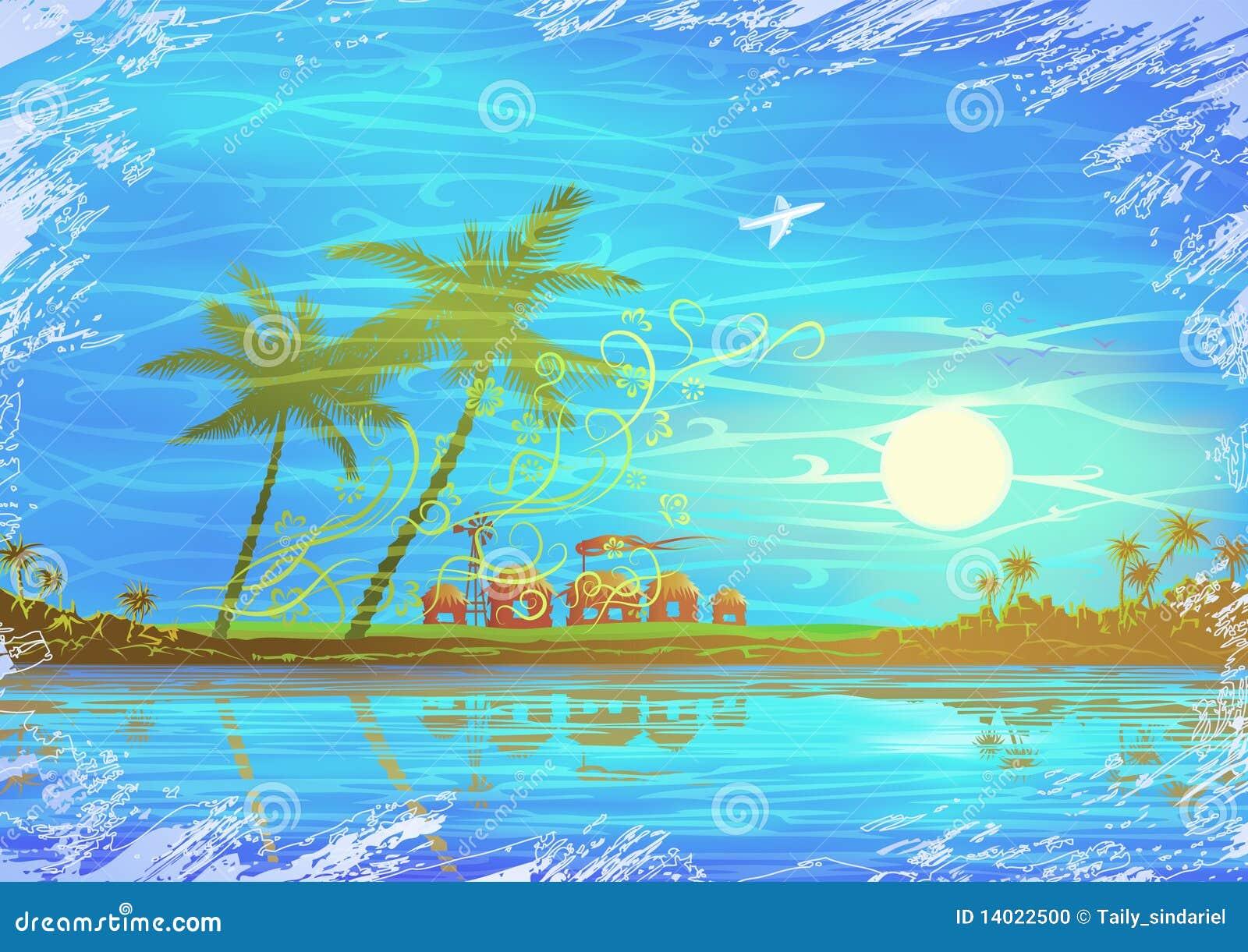 vector scenery tropical - photo #47