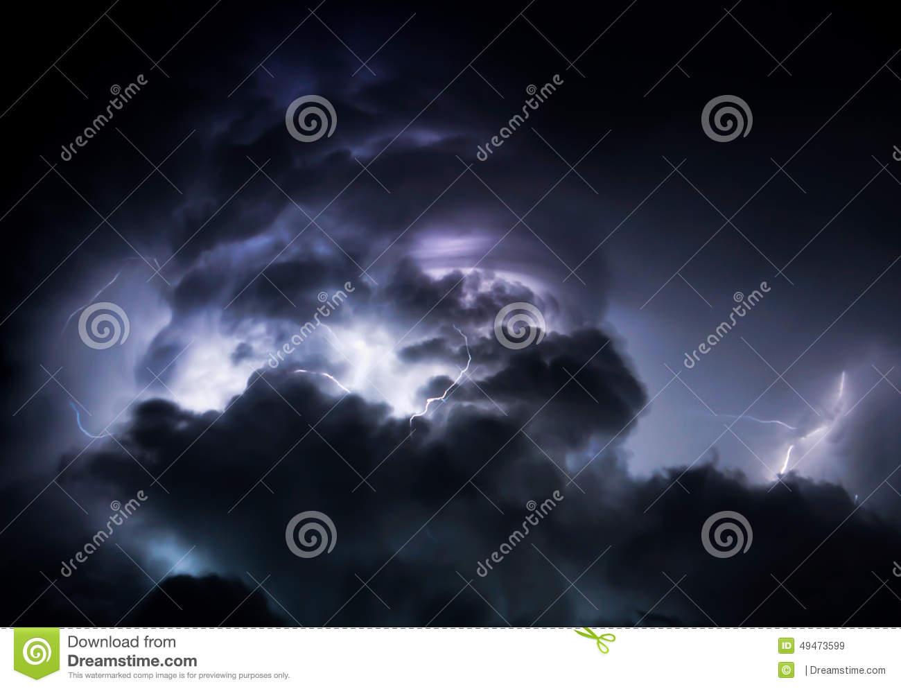 Tropical Lightning Storm Clouds