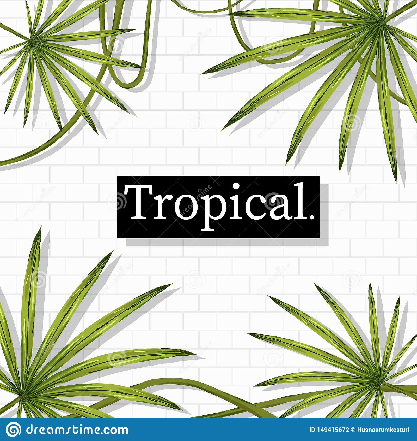 Tropical Summer holiday themed vector background image