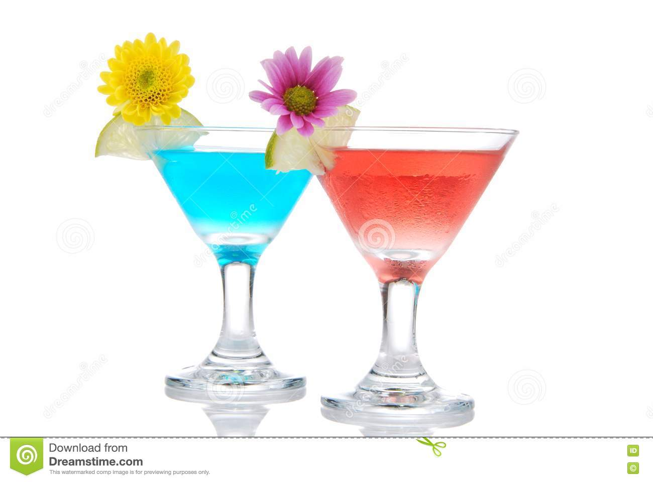 Tropical summer martini cocktails row stock photos image for Vodka based summer cocktails