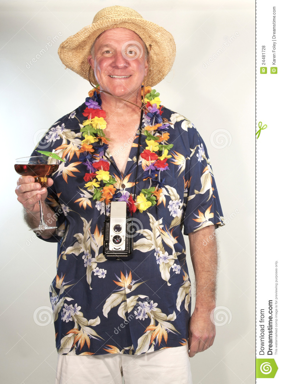 Tropical Tourist stock photo. Image of retired, vacationer