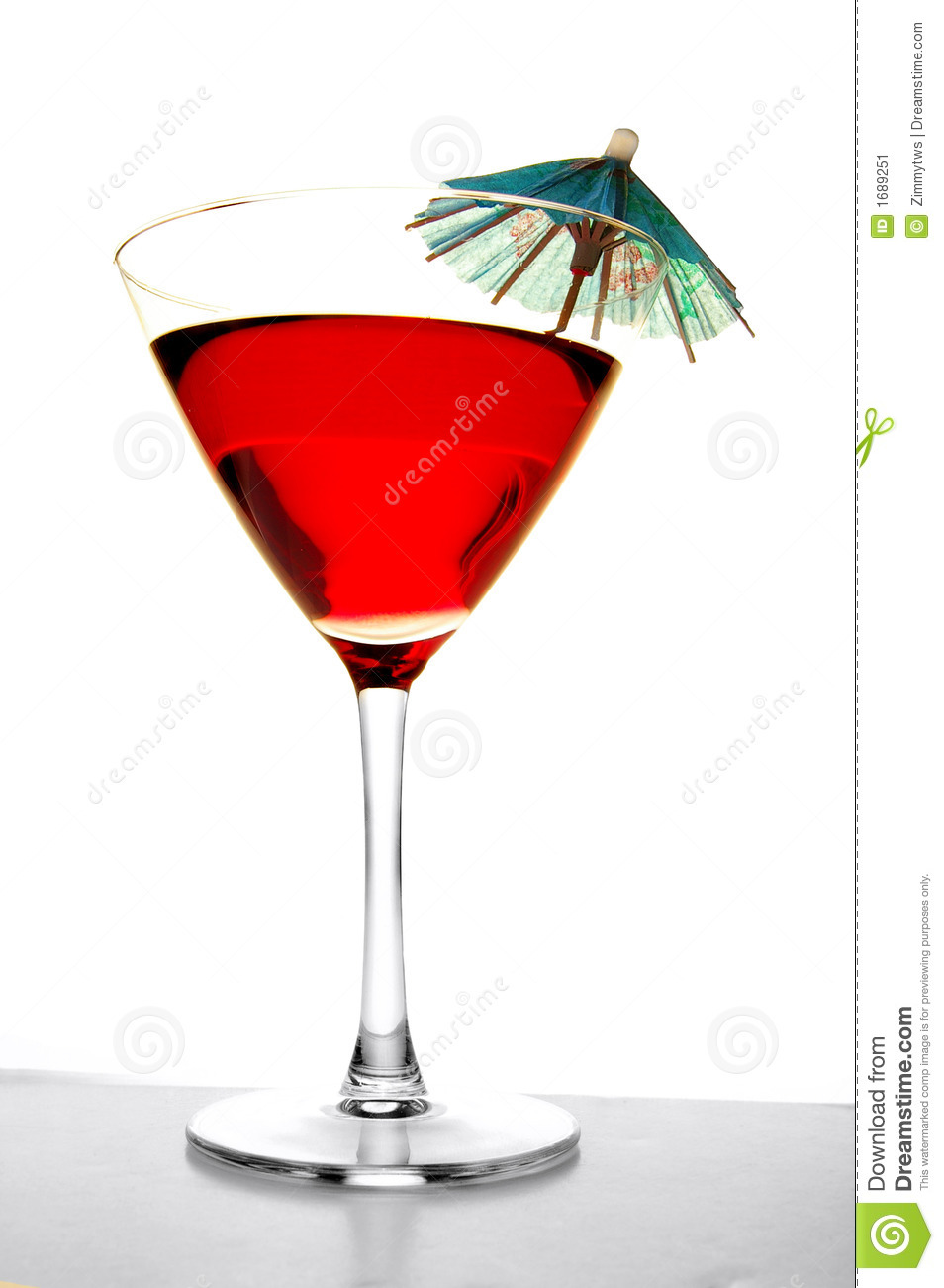 Tropical Umbrella Drink Stock Image Image Of Booze