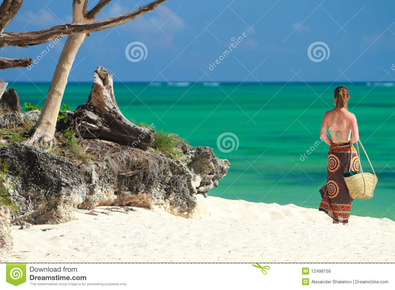 Tropical vacation stock photo image of female coast for Tropical vacations in december