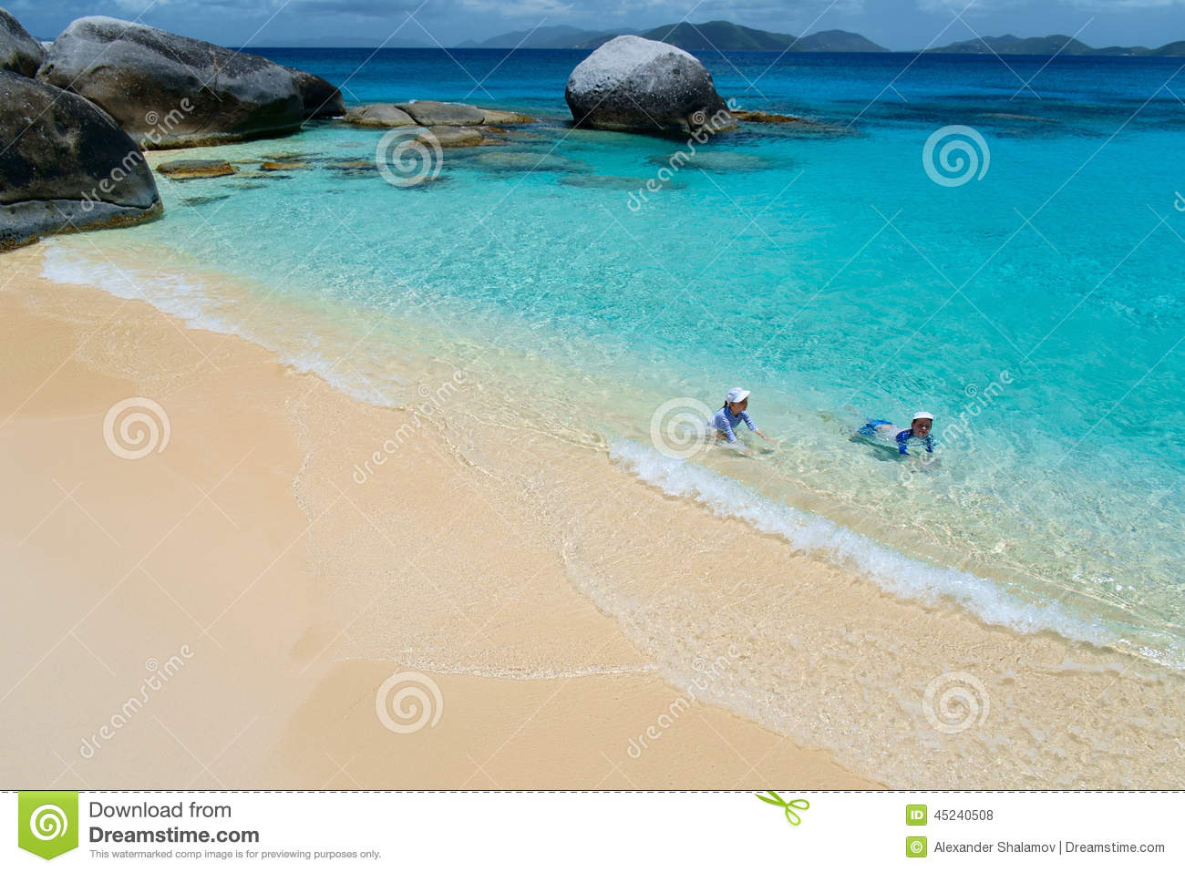 Tropical vacation stock photo image 45240508 for White sand beach vacations