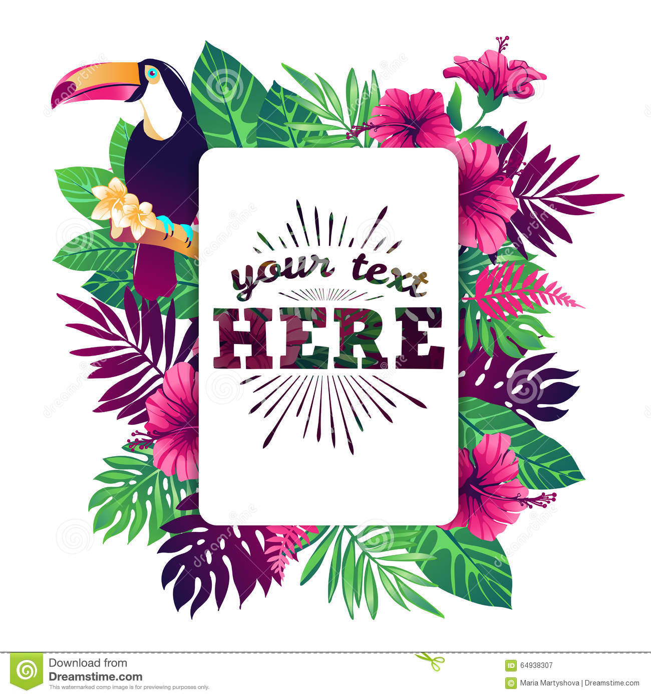 Tropical Vector Illustration Stock Vector Image 64938307