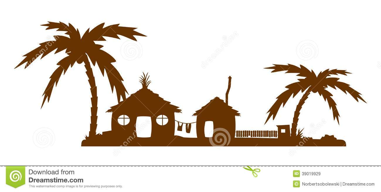 Tropical Village Stock Vector Image 39019929