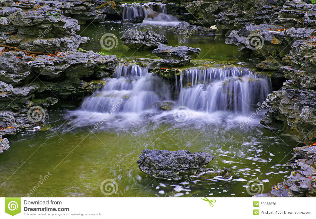 Waterfall in zen garden royalty free stock photography for Zen garden waterfall