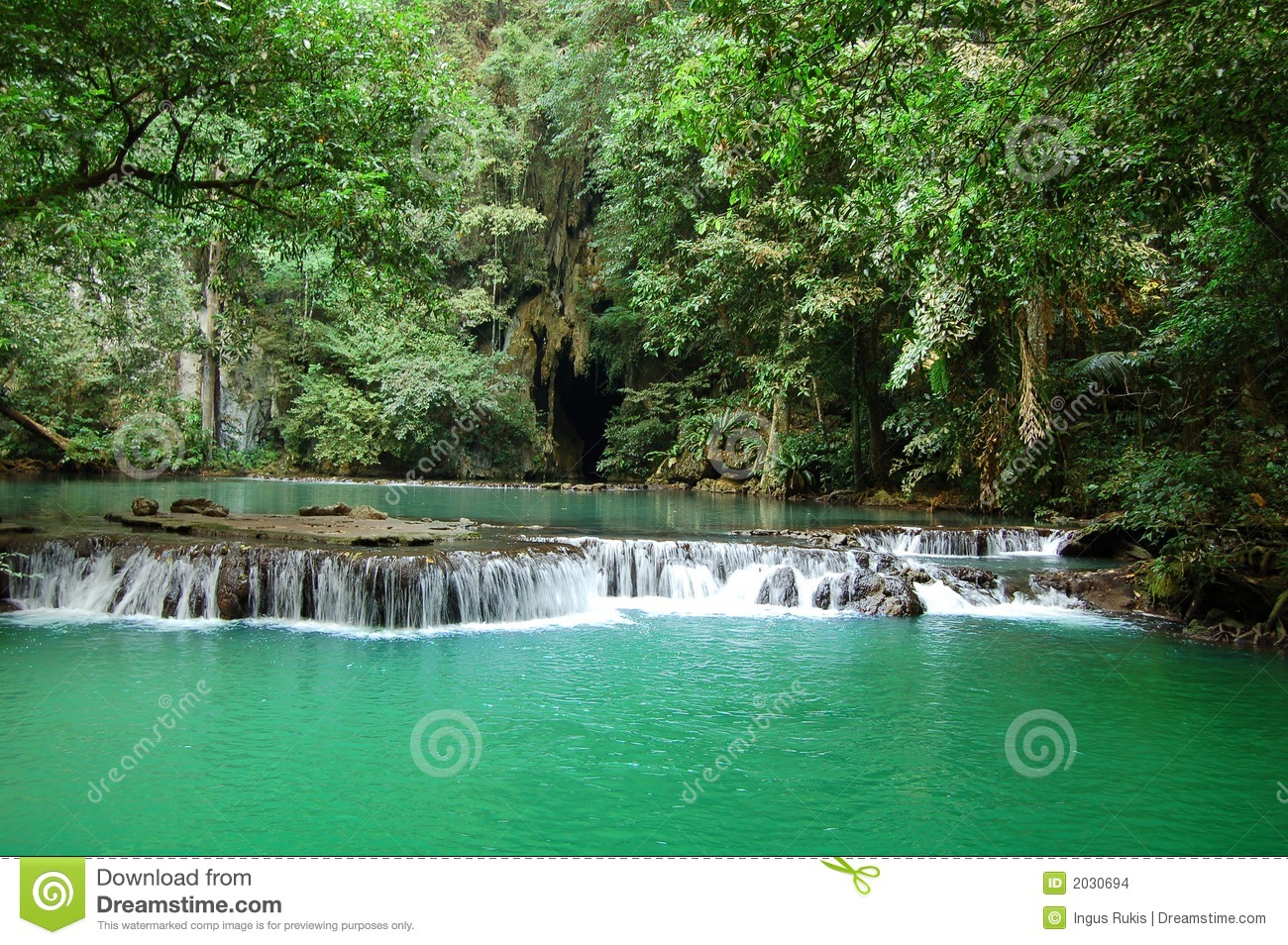 Tropical Waterfall Stock Photo Image Of Pond Scene Adventure