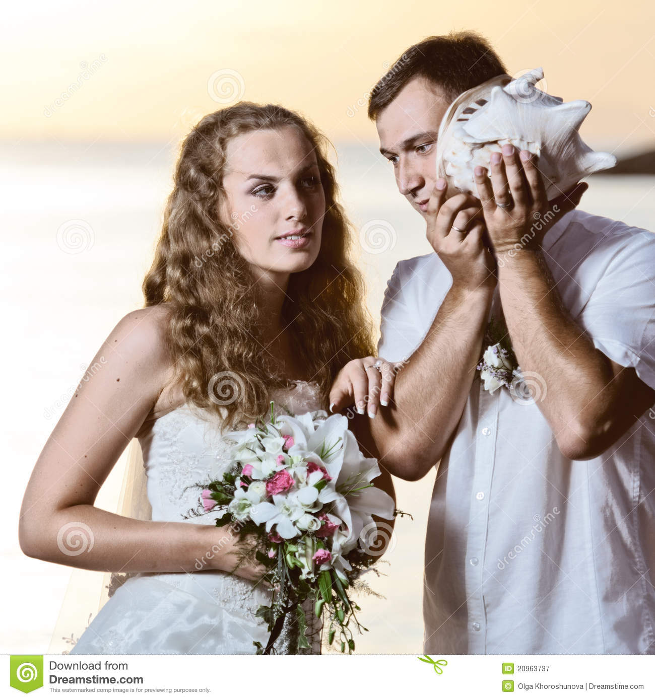 Tropical Wedding Royalty Free Stock Photography