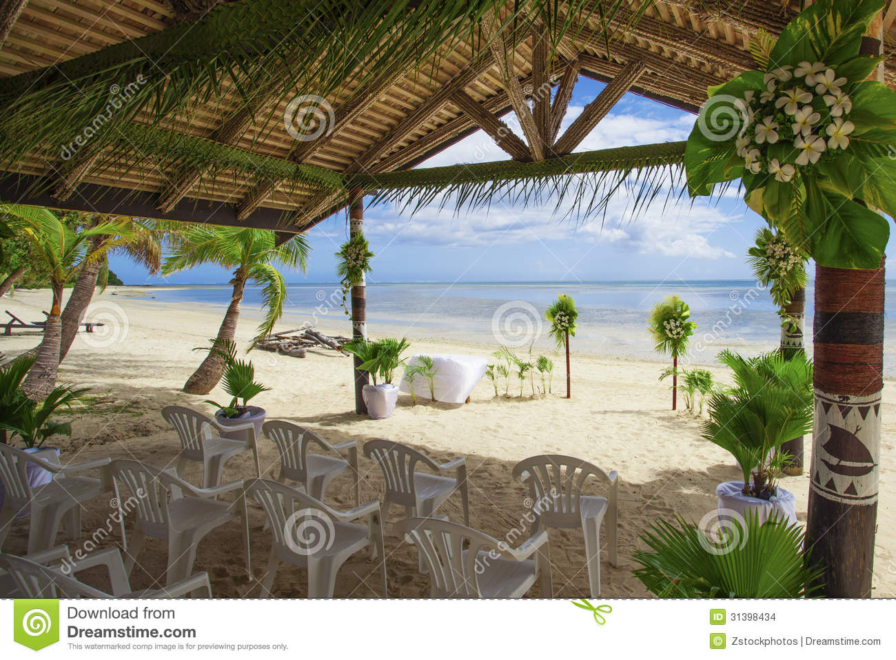 Tropical Fruit Platter For A Beach Wedding: Tropical Wedding Stock Photo. Image Of Coast, Outdoor