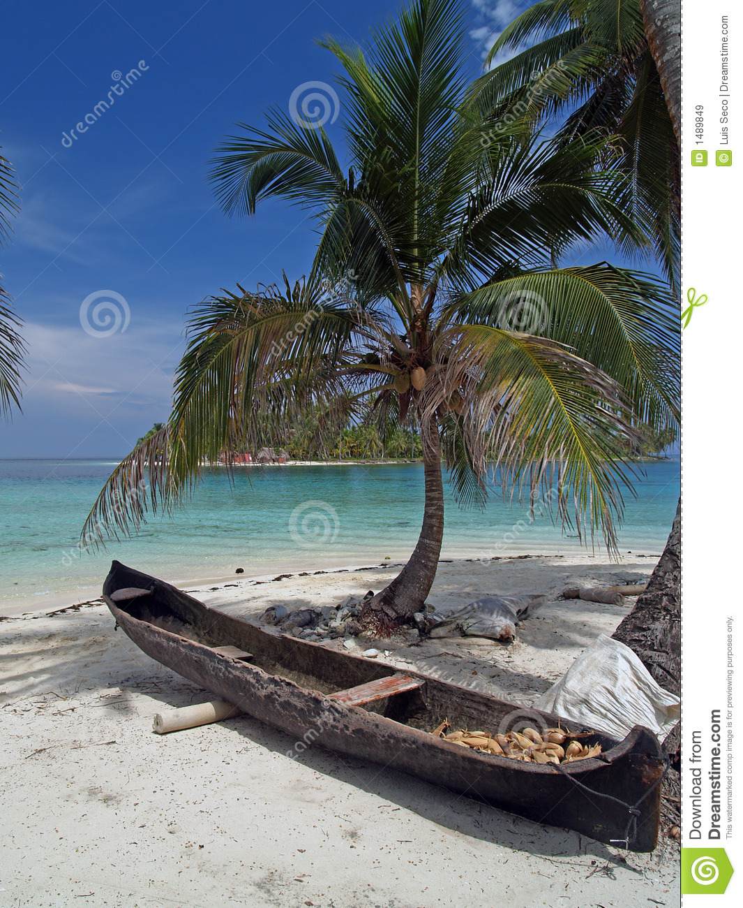 White Sand Beach: Tropical White Sand Beach Royalty Free Stock Images