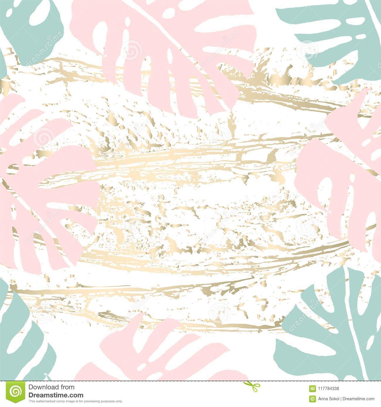 Vintage Tropical Worn Pattern Stock Vector Illustration Of Fashion