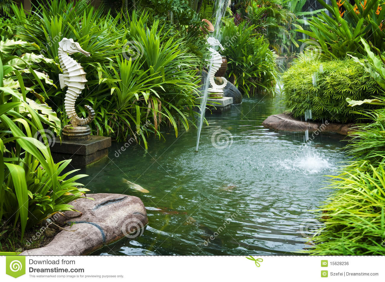 Tropical Zen Garden Royalty Free Stock Image Image 15628236