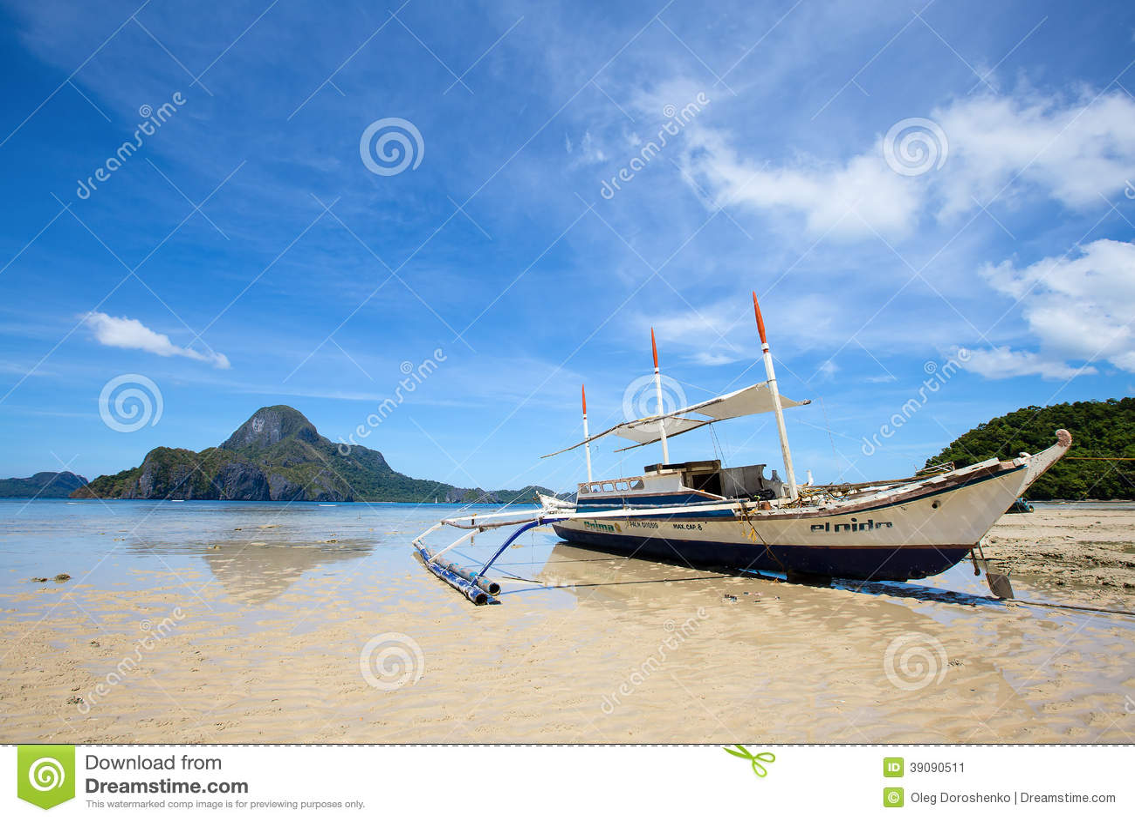 Tropikalna plaża w El Nido, Filipiny