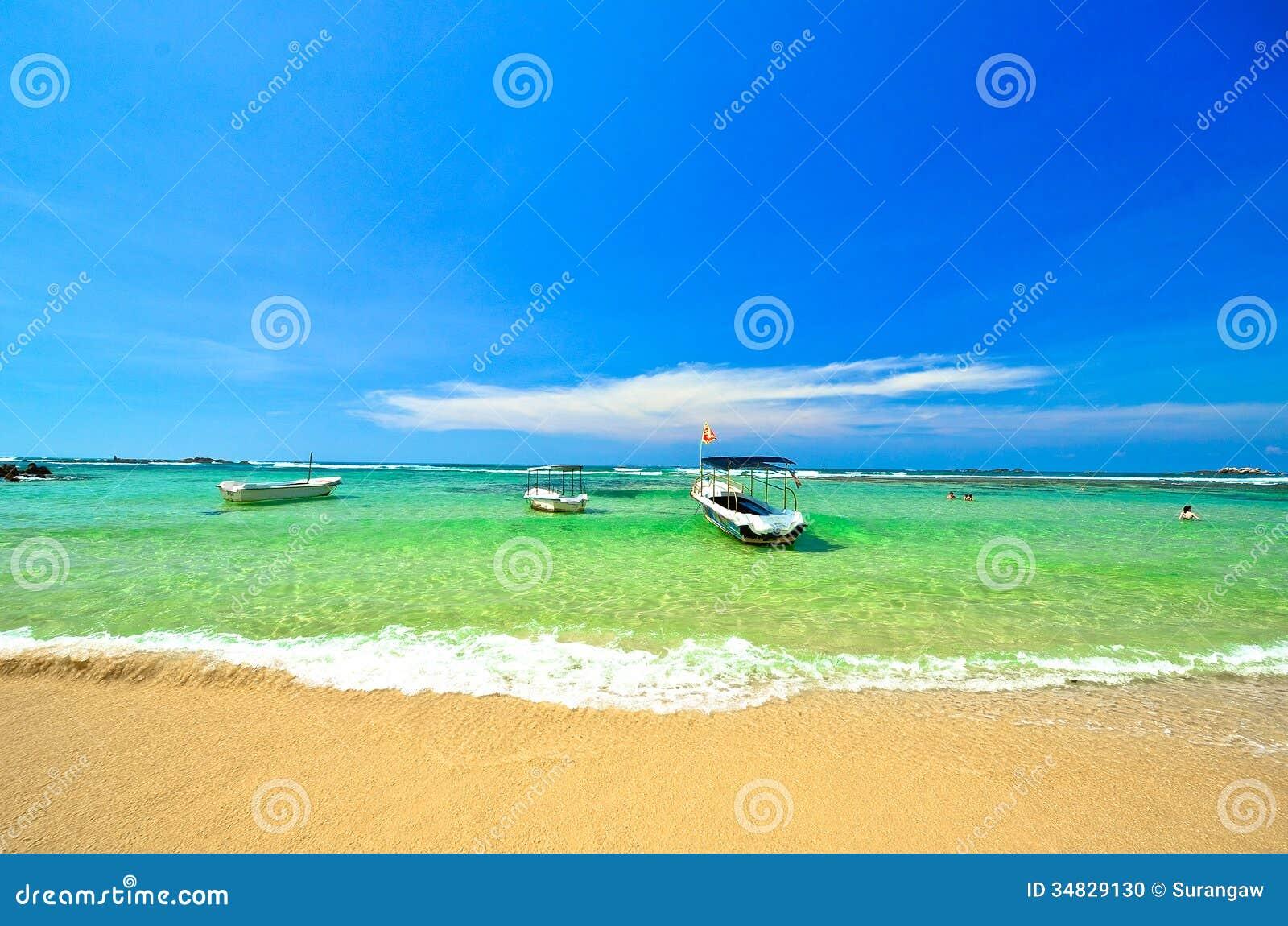 Tropikalna plaża w Sri Lanka