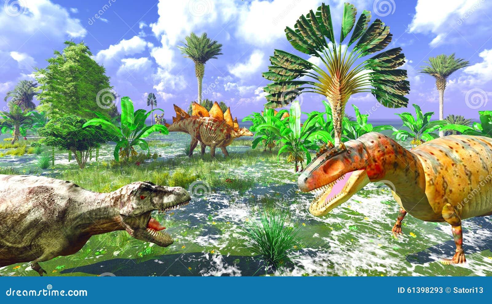 Tropikalny dinosaura park