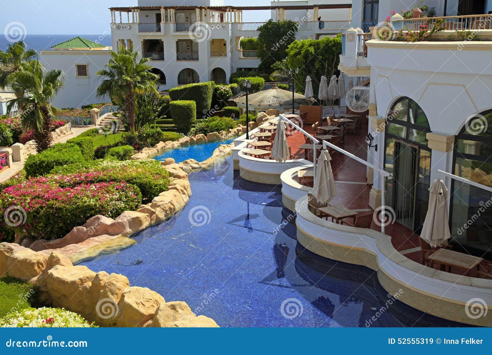 Tropikalny luksusowy hotel w kurorcie, sharm el sheikh, Egipt