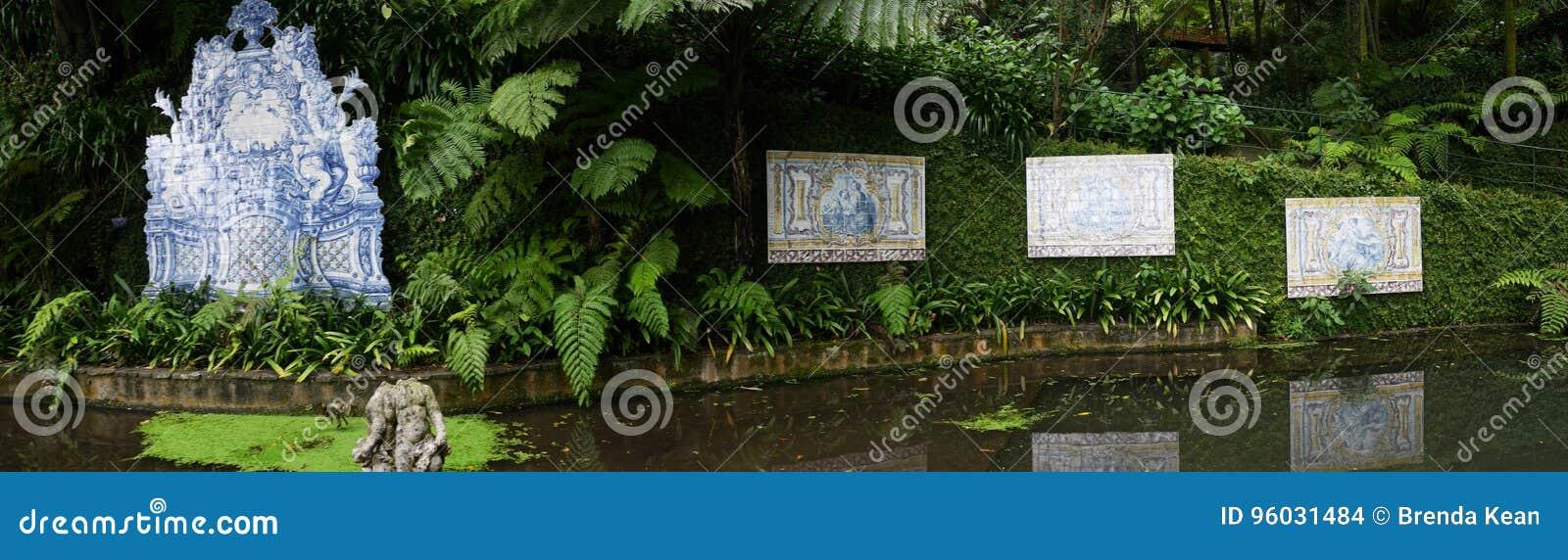 Tropikalny ogród przy Monte nad Funchal madera