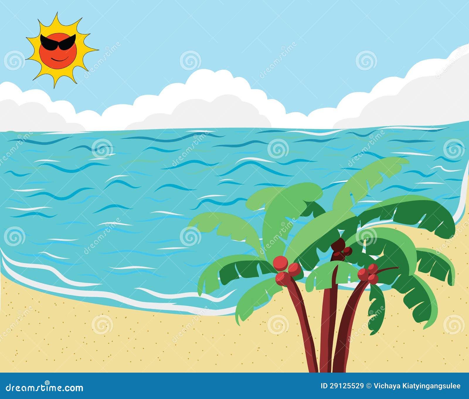 Tropikalny Plażowy sztandar