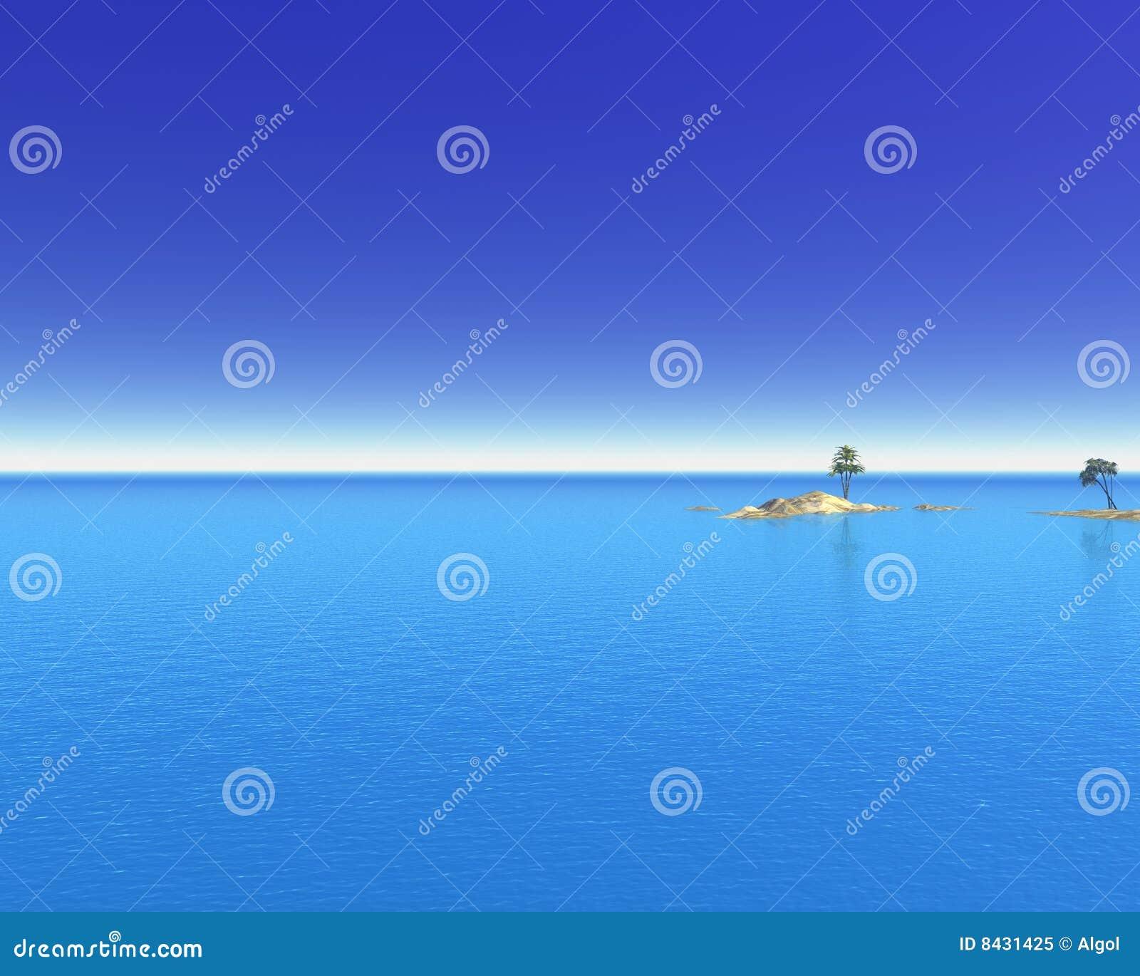 Tropikalny wyspa ocean