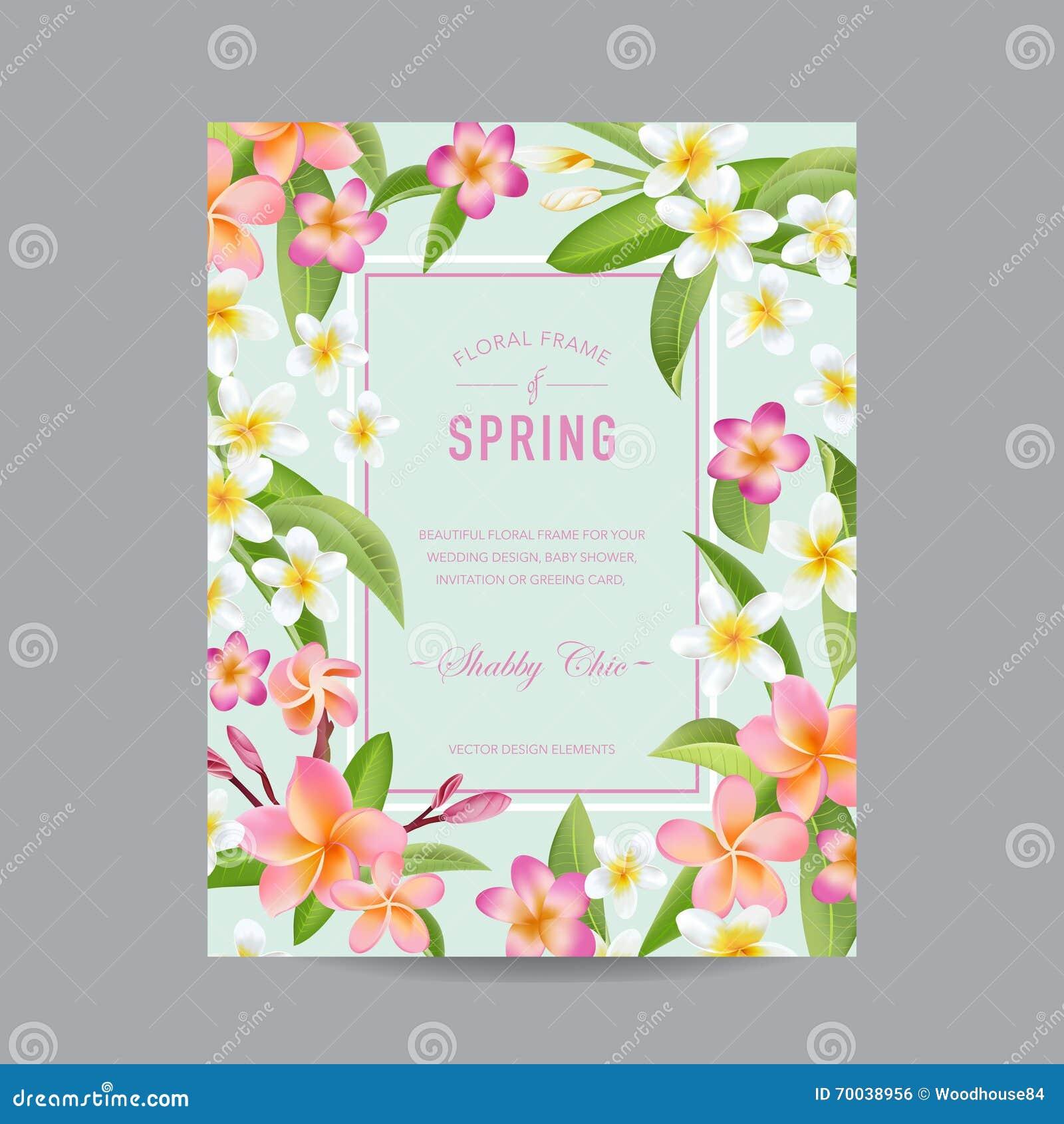 Tropisch bloemen kleurrijk kader voor uitnodiging