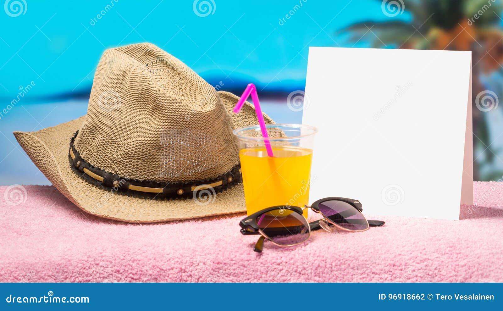 Tropisch de bannermalplaatje van de vakantiebevordering met aardig de zomer en de lentegevoel De achtergrond van de paradijscampa