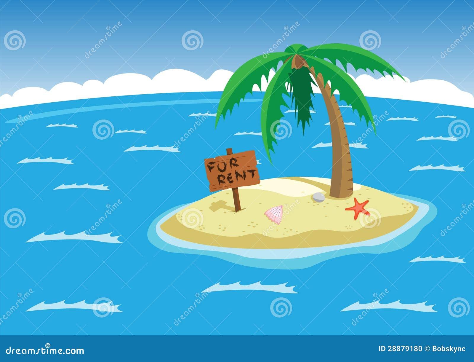 Tropisch eiland stock foto beeld 28879180 - In het midden eiland grootte ...