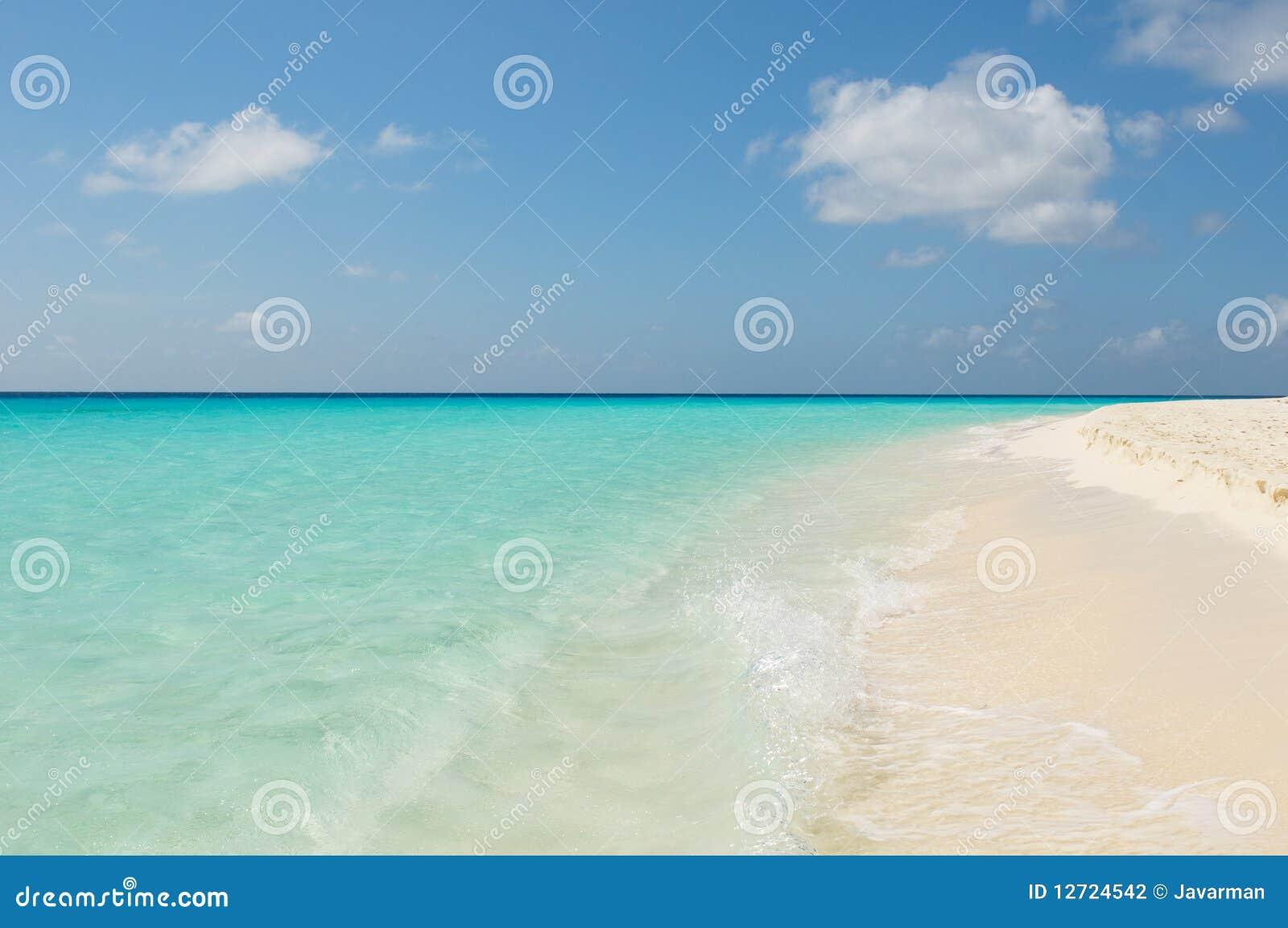 Tropisch strand, los roques eilanden, Venezuela