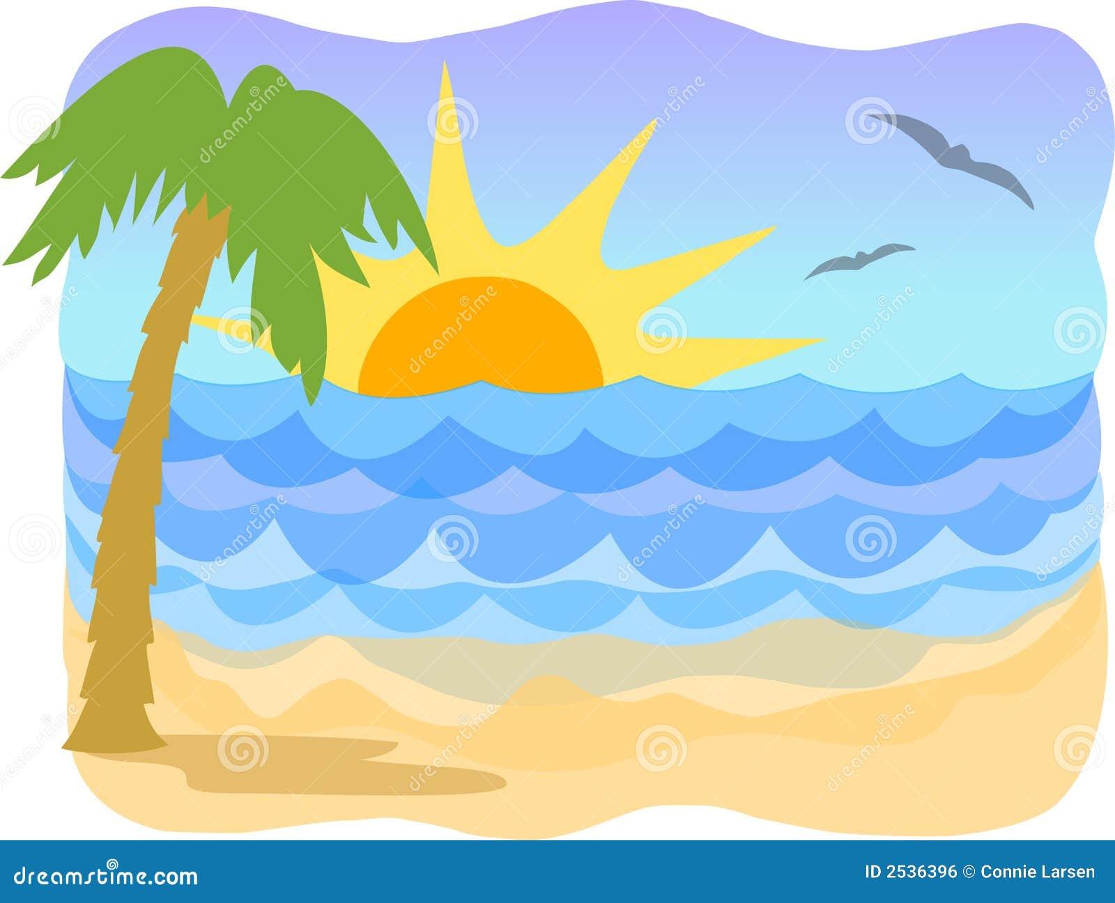 Tropische beach/ai