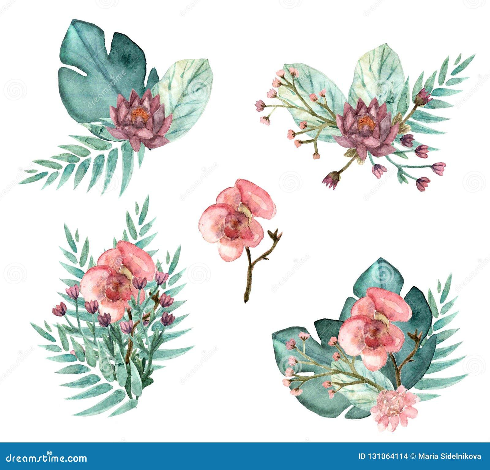 Tropische bloemboeketten