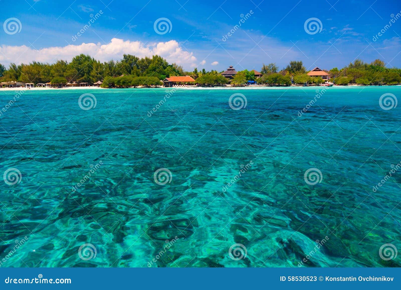 Tropische Lagune Stockbild Bild Von Farbe Lagune Feiertag 58530523