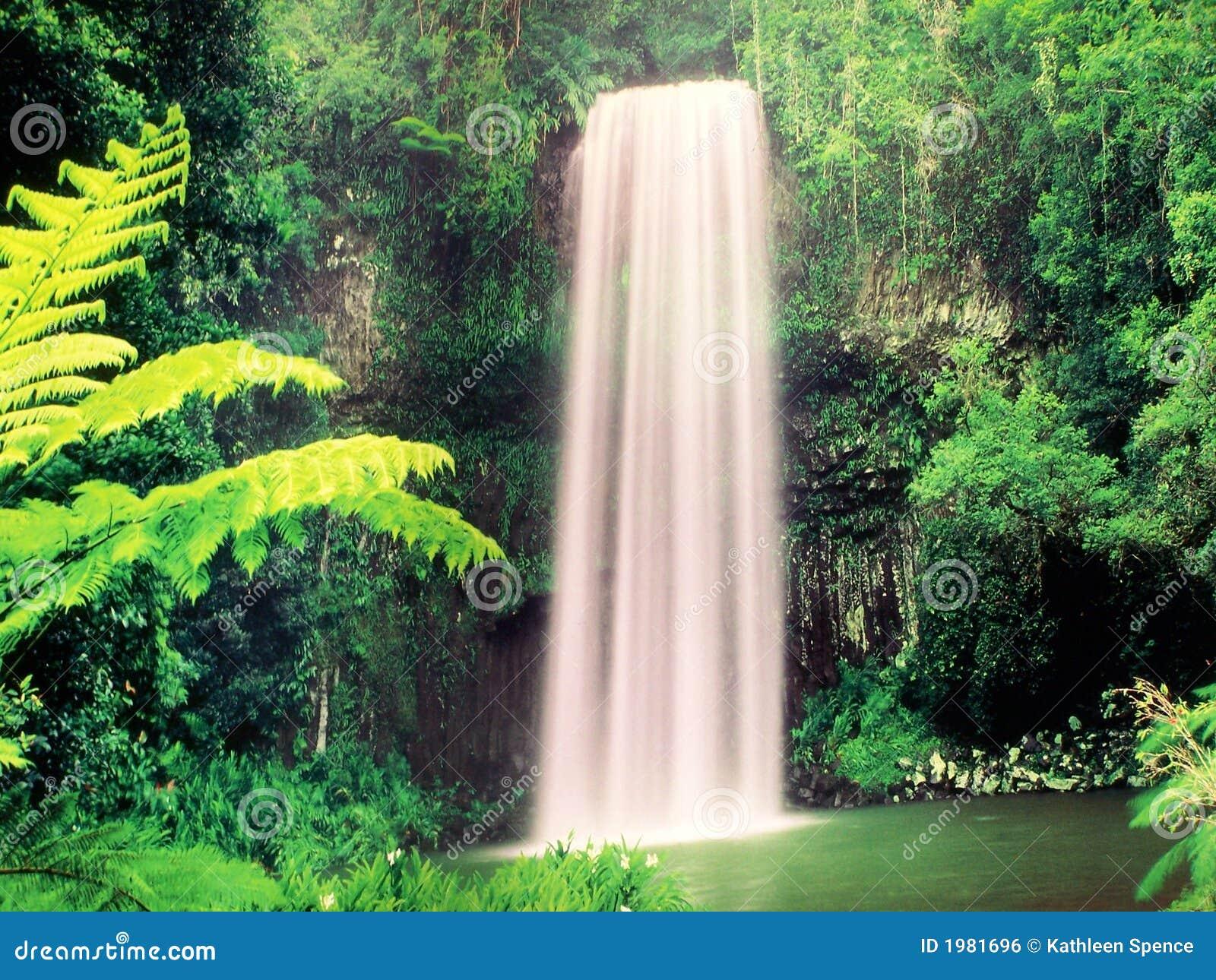 Royalty-vrije stock afbeelding: tropische waterval